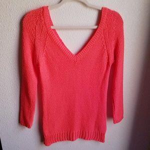 ZARA Hot Pink Knit Sweater